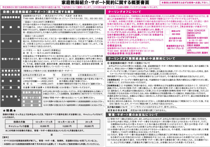 【東海】指導方法2概要書面表